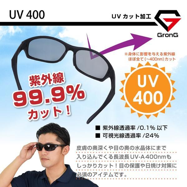 GronG 偏光サングラス スポーツサングラス UV400 ゴルフ 釣り 運転 スノボー|grong|05