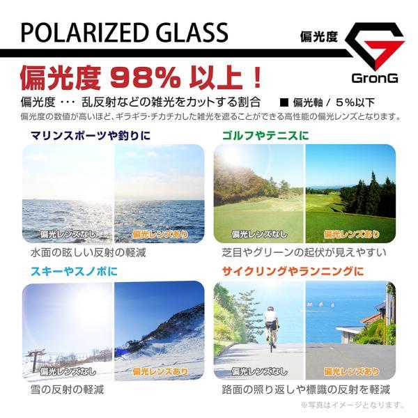 GronG 偏光サングラス スポーツサングラス UV400 ゴルフ 釣り 運転 スノボー|grong|06
