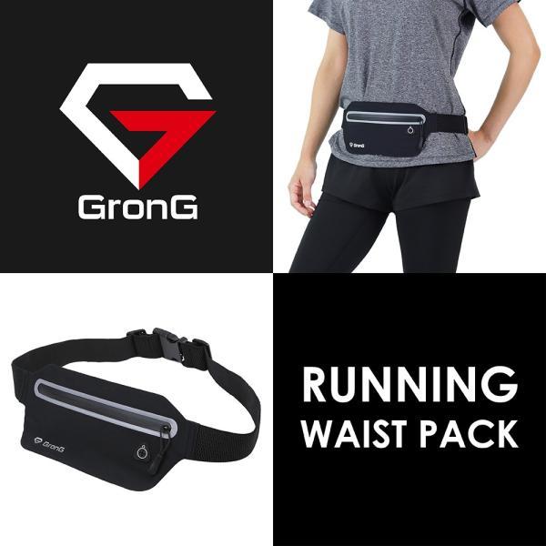GronG ランニングポーチ 防水 スマホ バッグ ウエストポーチ ウエストバッグ メンズ レディース 運動 ウォーキング|grong|02