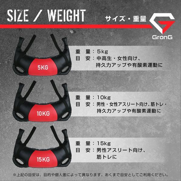 GronG ブルガリアンサンドバッグ 20kg 筋トレ 全身 体幹 トレーニング|grong|05