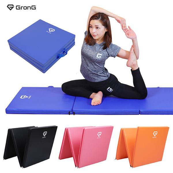 GronG トレーニングマット 体操マット 折りたたみ 筋トレ 厚手 180×60×5cm|grong