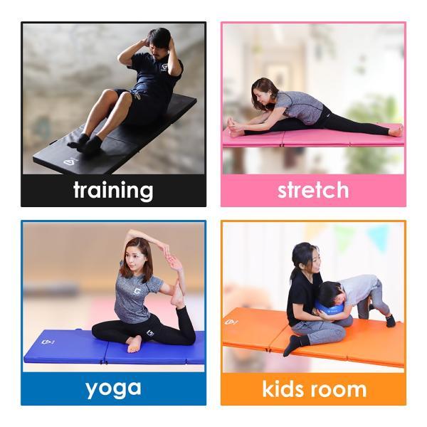 GronG トレーニングマット 体操マット 折りたたみ 筋トレ 厚手 180×60×5cm|grong|06