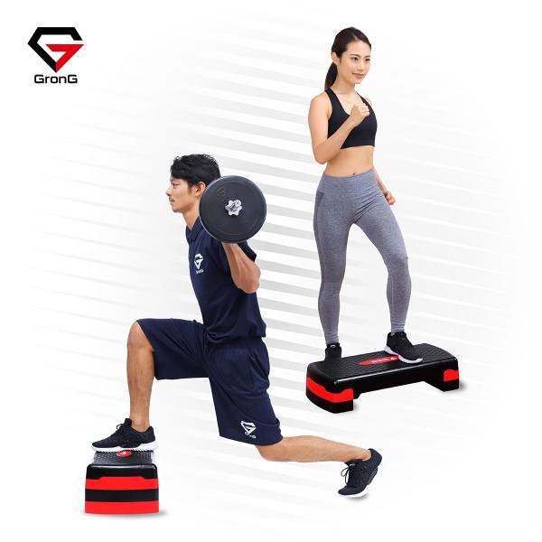 GronG(グロング) 踏み台 昇降運動 ステップ台 運動 フィットネス エクササイズ 2段階調整可能 滑り止め加工|grong|02