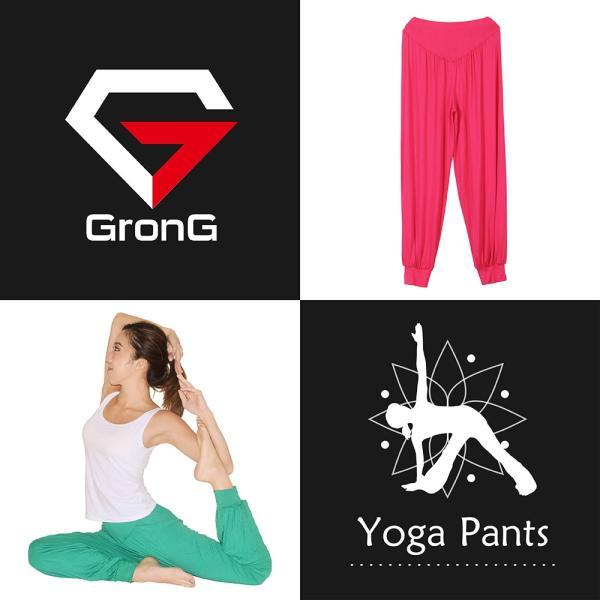 GronG ヨガパンツ レディース ヨガウェア サルエル風 メンズ 綿 スポーツウェア|grong|02