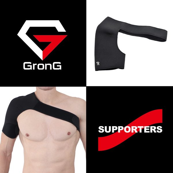 GronG 肩サポーター スポーツサポーター 右肩用 右利き 運動 フリーサイズ タイプA|grong|02