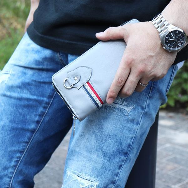 長財布 財布 サイフ さいふ メンズ 小銭入れ お札入れ ファスナー カード 収納 スマート おしゃれ 名入れ|groover-grand|05
