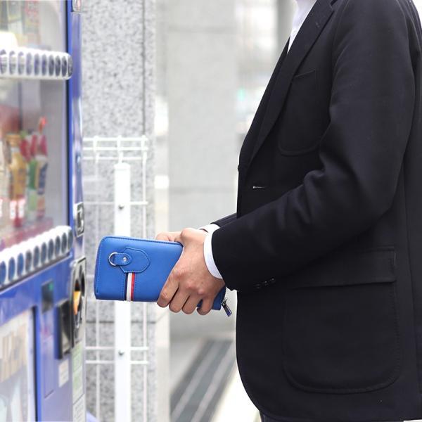 長財布 財布 サイフ さいふ メンズ 小銭入れ お札入れ ファスナー カード 収納 スマート おしゃれ 名入れ|groover-grand|06