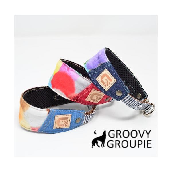 カラフルbonbonプリント!ハーフチョーク【小型犬用】ミニピン・イタグレにぴったり!|groovygroupie