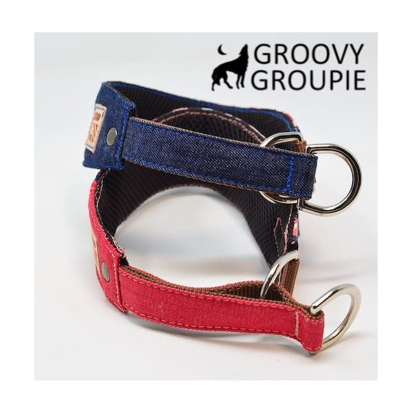 和柄 ボタン柄!ハーフチョーク【小型犬用】ミニピン・イタグレにぴったり! groovygroupie 04