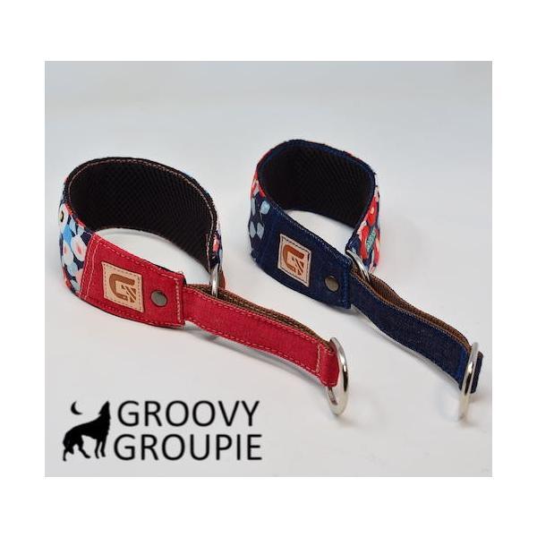 和柄 ボタン柄!ハーフチョーク【小型犬用】ミニピン・イタグレにぴったり! groovygroupie 07