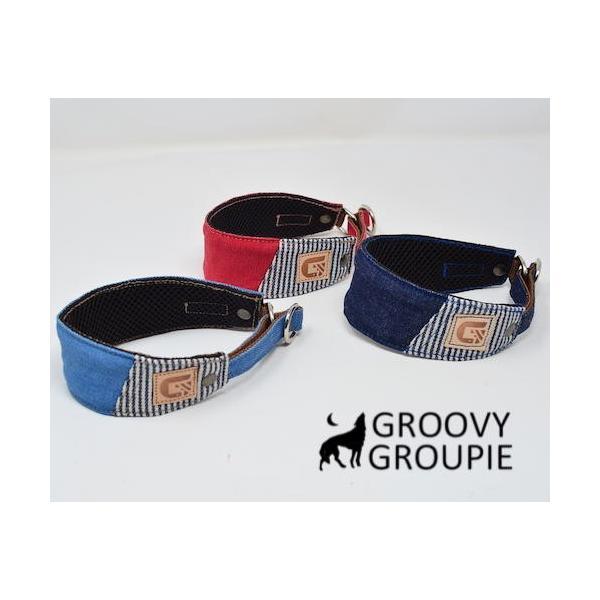 デニム!ハーフチョーク【大型犬用】ゴールデンレトリーバー、ラブラドールにぴったり!|groovygroupie|03