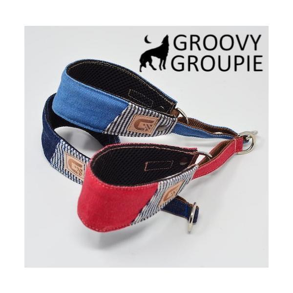 デニム!ハーフチョーク【大型犬用】ゴールデンレトリーバー、ラブラドールにぴったり!|groovygroupie|09