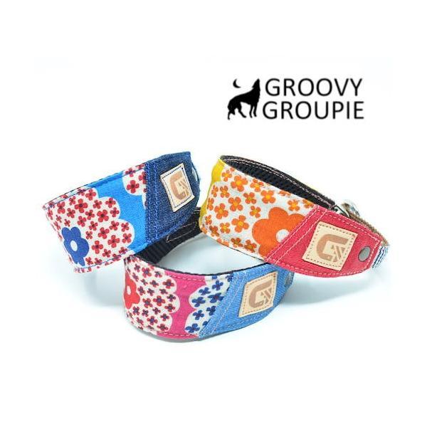 花柄プリント!ハーフチョーク【大型犬用】ゴールデンレトリーバー、ラブラドールにぴったり! |groovygroupie