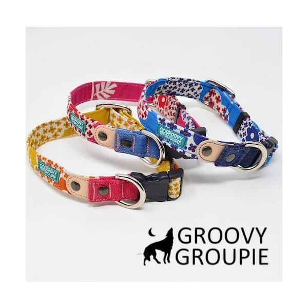 小型犬用【Sサイズ】首輪 花柄プリント|groovygroupie