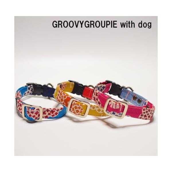 小型犬用【Sサイズ】首輪 花柄プリント|groovygroupie|03