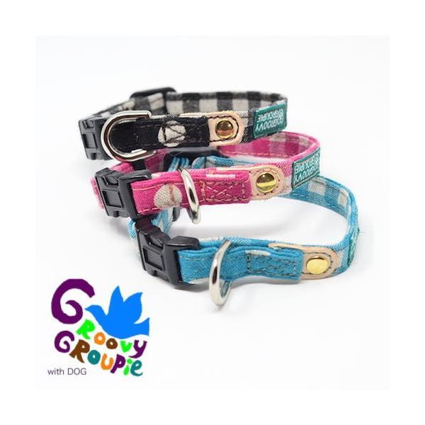 超小型犬用 首輪  ギンガムチェック&水玉、ドット柄 groovygroupie