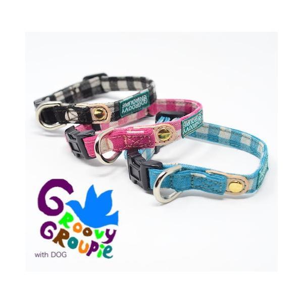 超小型犬用 首輪  ギンガムチェック&水玉、ドット柄 groovygroupie 02