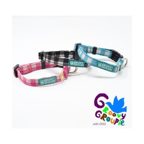 超小型犬用 首輪  ギンガムチェック&水玉、ドット柄 groovygroupie 03