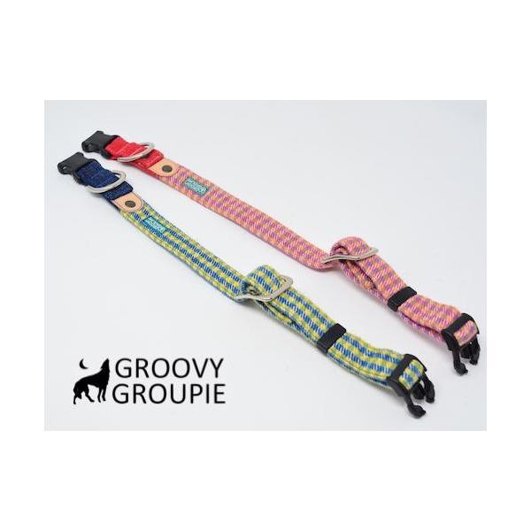 小型犬用 首輪とリードセット   アクリルミックス ギンガムチェック & デニム セットでお得 |groovygroupie|07
