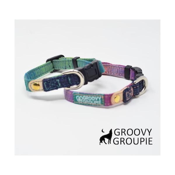 超小型犬用 首輪  グラデーション&デニム|groovygroupie