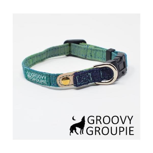 超小型犬用 首輪  グラデーション&デニム|groovygroupie|02
