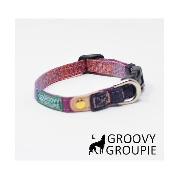 超小型犬用 首輪  グラデーション&デニム|groovygroupie|03