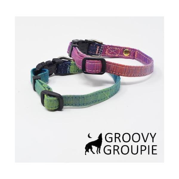 超小型犬用 首輪  グラデーション&デニム|groovygroupie|05