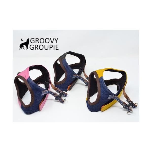 小型犬用 ハーネス  ソフト ベスト型  ツイル&デニム  犬 胴輪 ボディハーネス 日本製  groovygroupie 03