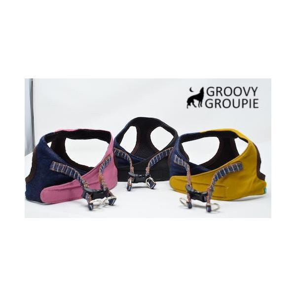 小型犬用 ハーネス  ソフト ベスト型  ツイル&デニム  犬 胴輪 ボディハーネス 日本製  groovygroupie 04