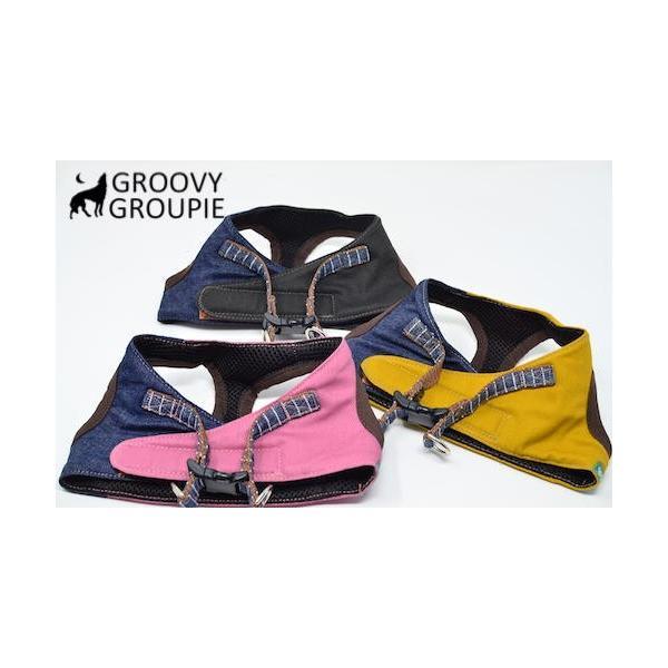小型犬用 ハーネス  ソフト ベスト型  ツイル&デニム  犬 胴輪 ボディハーネス 日本製  groovygroupie 05