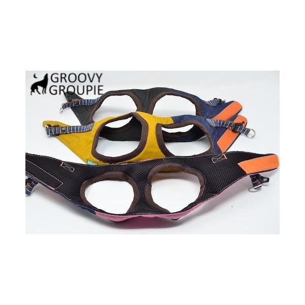 小型犬用 ハーネス  ソフト ベスト型  ツイル&デニム  犬 胴輪 ボディハーネス 日本製  groovygroupie 06
