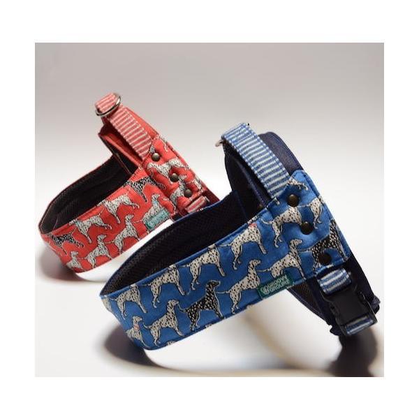 犬用ハーネス ダルメシアンプリント クイックハーネス・胴輪 小型犬用 ワンタッチで装着簡単 裏地クッションで優しい。 日本製|groovygroupie|02
