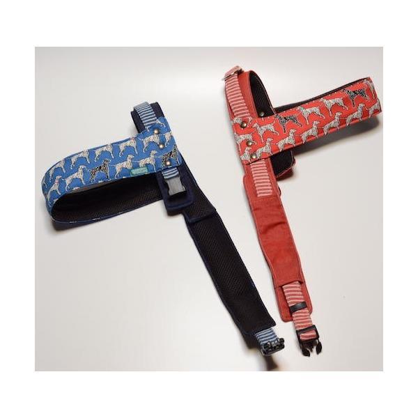 犬用ハーネス ダルメシアンプリント クイックハーネス・胴輪 小型犬用 ワンタッチで装着簡単 裏地クッションで優しい。 日本製|groovygroupie|03