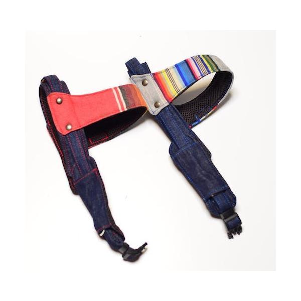 犬用ハーネス マルチストライプ クイックハーネス・胴輪 小型犬用 ワンタッチで装着簡単 裏地クッションで優しい。  日本製 groovygroupie 05