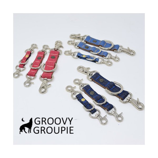 首輪とハーネスとリードをまとめる!デニムのジョイントショートリード。レバーナスカン使用【Sサイズ・小型犬用とMサイズ 中、大型犬用】|groovygroupie|02