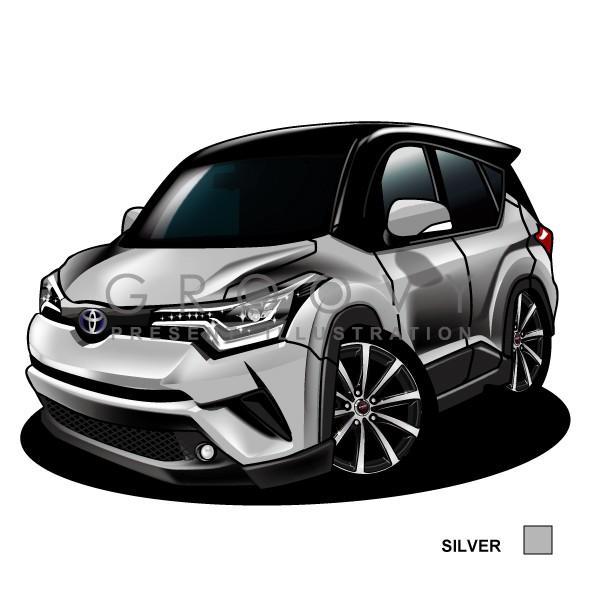 トヨタ/C-HR/車ポスターカレンダー/2019年/グルービー/TOYOTA ステッカーも追加OK :toy-chr