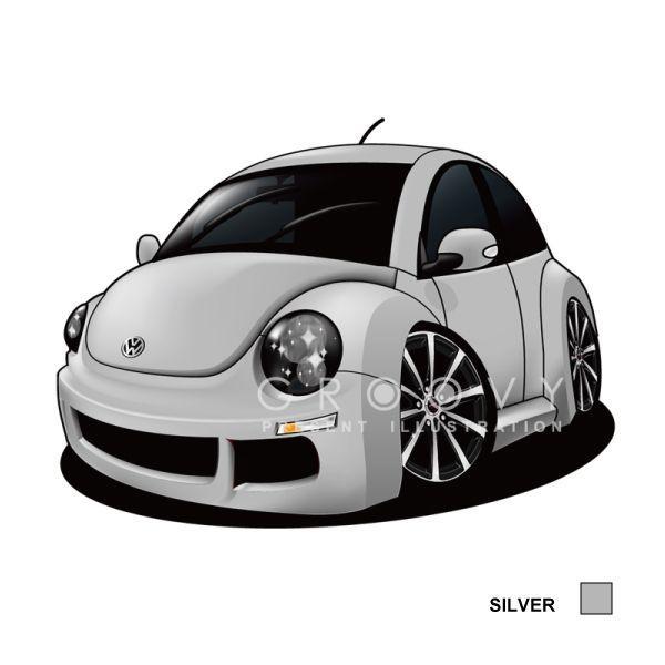 フォルクスワーゲンビートル車イラスト2l版グルービー Volkswagen
