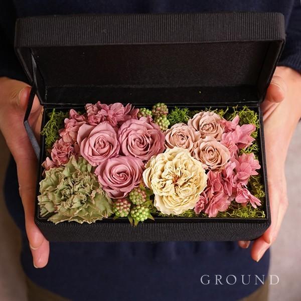 プリザーブドフラワー 母の日 花 ギフト プレゼント 母の日ギフト2020 誕生日プレゼント おしゃれ 結婚記念日 両親 妻 電報 結婚式 祝電 送料無料 ground-flower 04