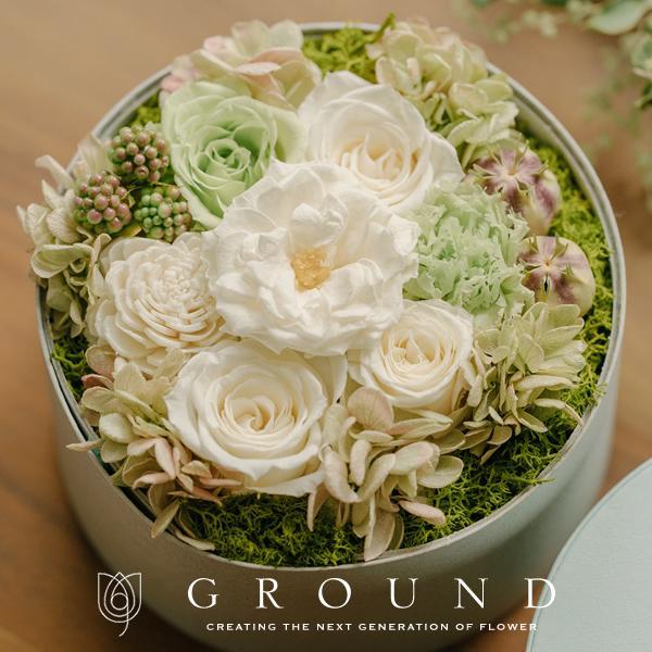 祝電 電報 結婚式 おしゃれ 花 結婚祝い プリザーブドフラワー プレゼント ギフト ブリザードフラワー ボックス サプライズ お祝い バラ|ground-flower