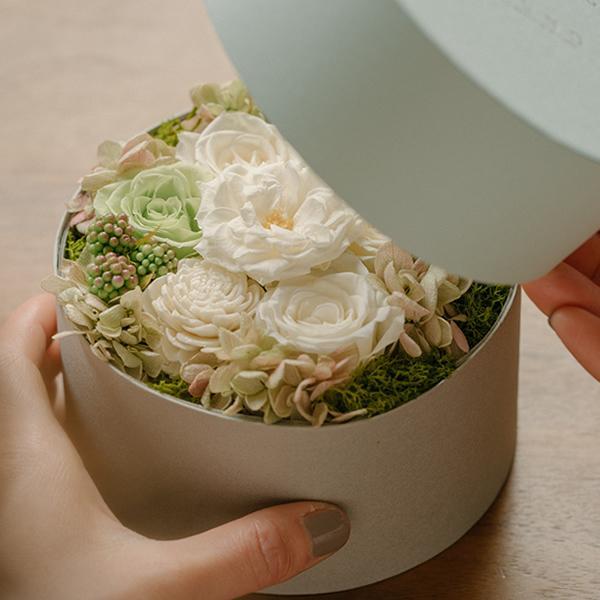 祝電 電報 結婚式 おしゃれ 花 結婚祝い プリザーブドフラワー プレゼント ギフト ブリザードフラワー ボックス サプライズ お祝い バラ|ground-flower|09