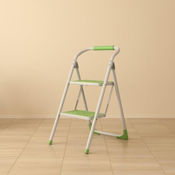 ・PPS-SP グリーン 脚立 折りたたみ 踏み台 ステップ台 ステップスツール 折り畳み かわいい 収納 おしゃれ ディスプレイ棚