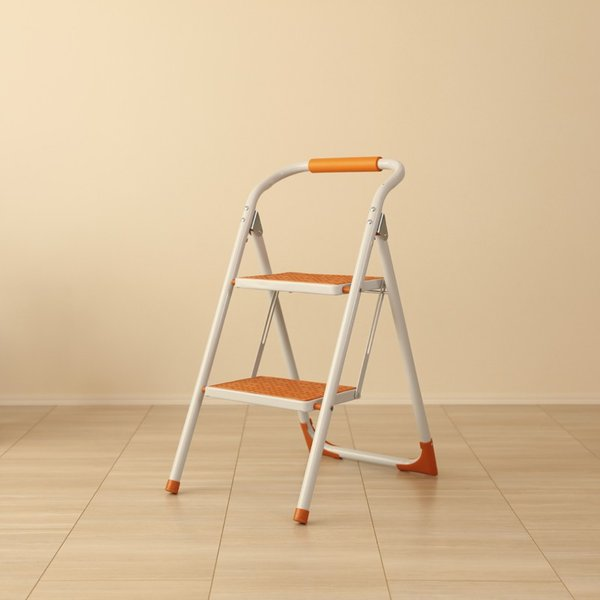 ・PPS-SP オレンジ 脚立 折りたたみ 踏み台 ステップ台 ステップスツール 折り畳み かわいい 収納 おしゃれ ディスプレイ棚