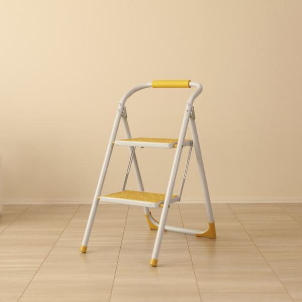 ・PPS-SP イエロー 脚立 折りたたみ 踏み台 ステップ台 ステップスツール 折り畳み かわいい 収納 おしゃれ ディスプレイ棚