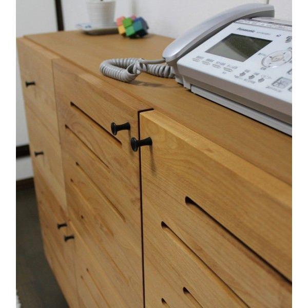 電話台 WT 幅112cm 電話台 リビングボード ファックス台 北欧 fax台 完成品 木製 ルーター収納 キャビネット スリム おしゃれ grove 04