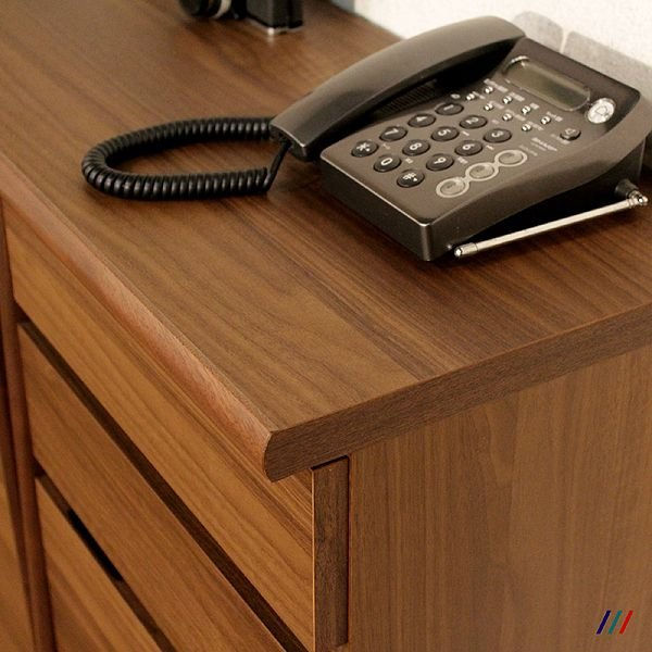 電話台 FAX台 77cm ウォールナット  ルーター収納|grove|04