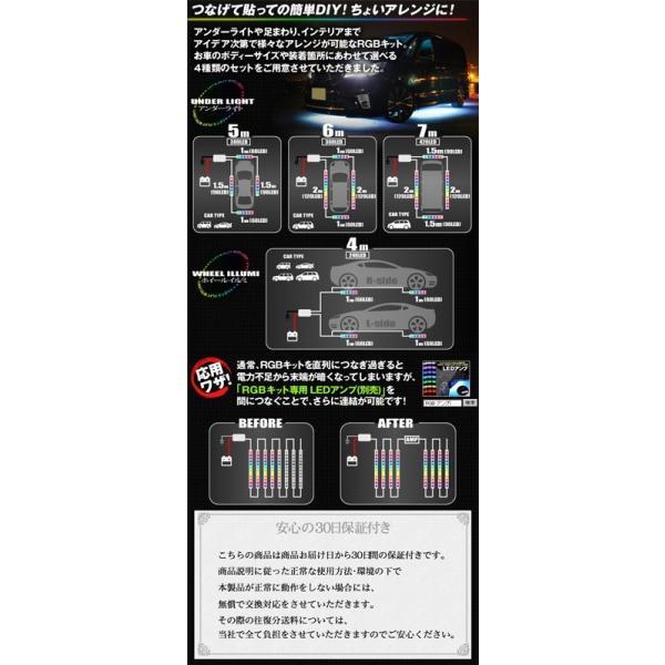 テープLEDアンダーライトキット 300連 フルカラーRGB, 総延長5m|gry|05