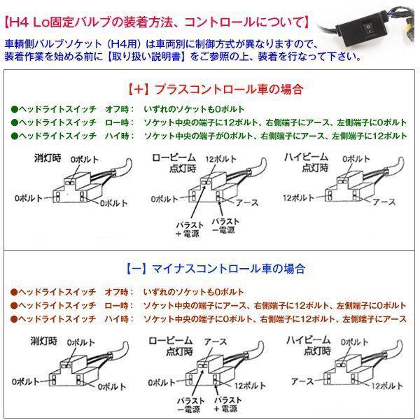 ワンピース PIAAタイプバーナー H4 Hi/Low HIDコンバージョンキット 6000K 12V車 Bバラ|gry|05