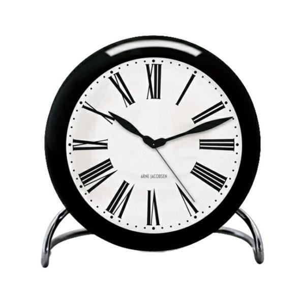 ARNE JACOBSEN アルネ ヤコブセン テーブル クロック ローマン 43671 時計 置き時計 目覚まし時計 アナログ ブラック 黒 ホワイト 白|gryps|06