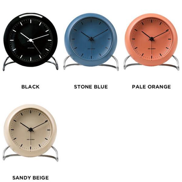 ARNE JACOBSEN アルネ ヤコブセン テーブル クロック シティホール 時計 置き時計 目覚まし時計 アナログ ブラック 黒 ブルー 青 オレンジ ベージュ|gryps|02
