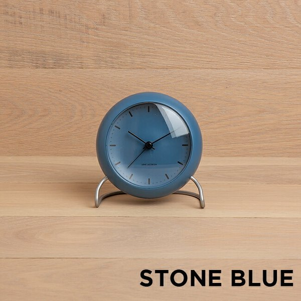 ARNE JACOBSEN アルネ ヤコブセン テーブル クロック シティホール 時計 置き時計 目覚まし時計 アナログ ブラック 黒 ブルー 青 オレンジ ベージュ|gryps|04